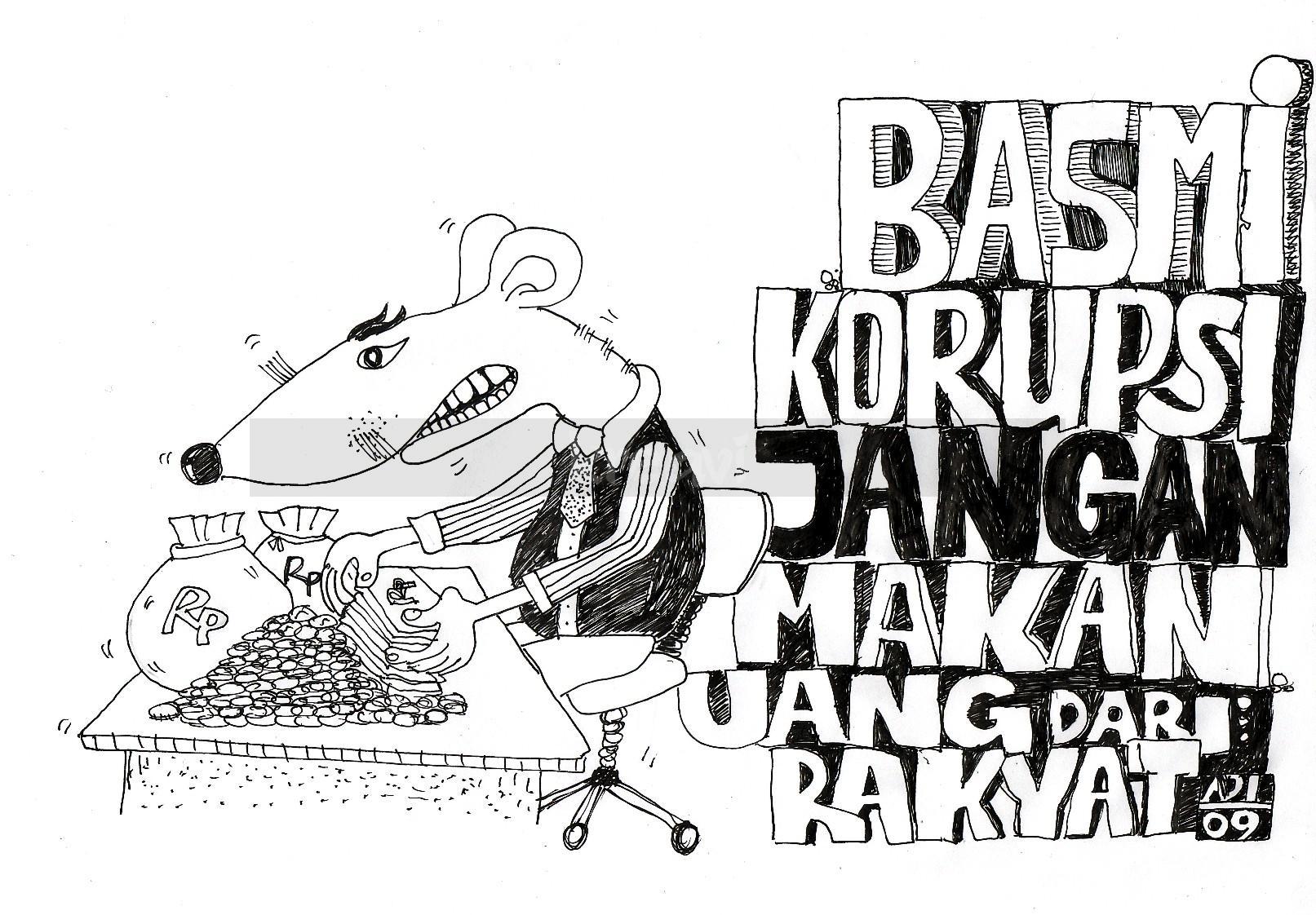 30 Ide Keren Gambar Sketsa Poster Tentang Anti Korupsi